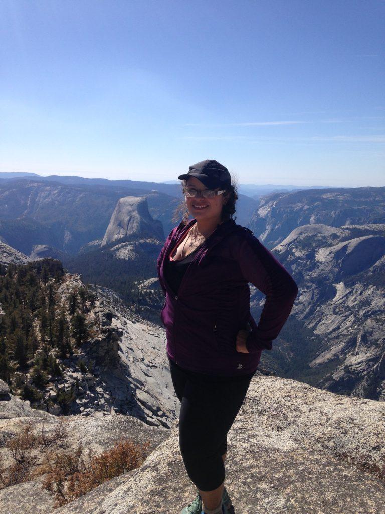 Katie hiking